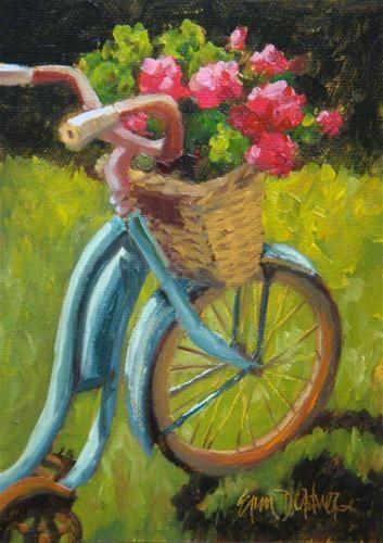 "Daily Paintworks - ""Bountiful Basket"" - Original Fine Art for Sale - © Erin Dertner"