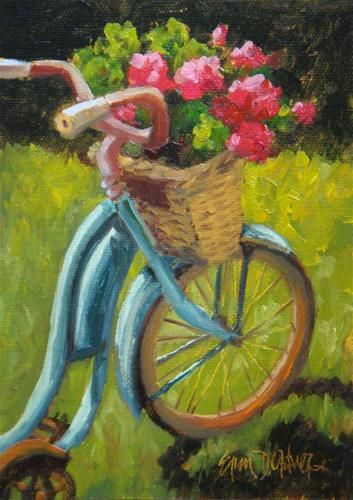 "Daily Paintworks - ""Bountiful Basket"" - Original Fine Art for Sale - © Erin Dertner"