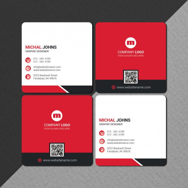 Square Size Business Card Design In 2020 With Images Business