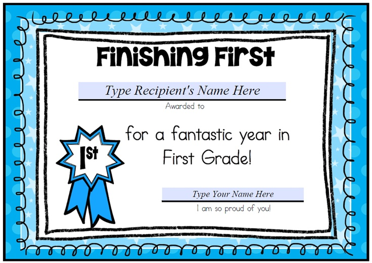 these certificates are a fun way to celebrate the end of