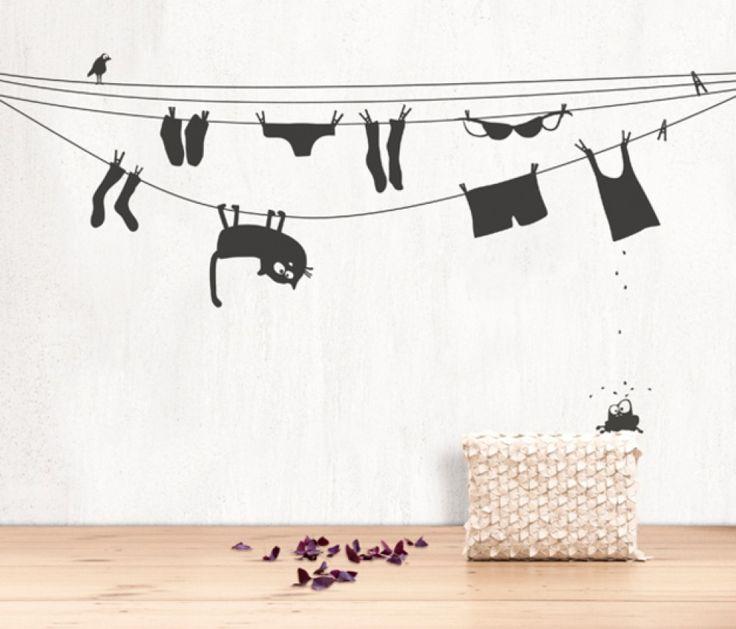 La folle corde à linge | Quintessence http://www.quintessence-deco.be