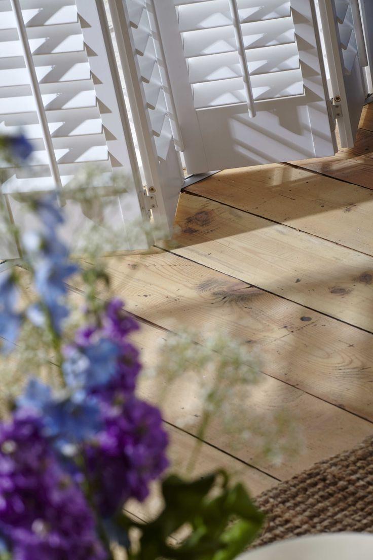 White Lounge Shutters. Full length shutters. Modern living room inspiration. Home decor ideas.