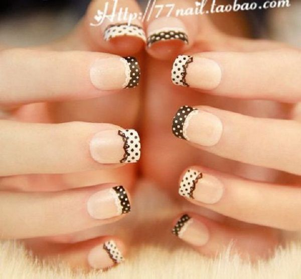 lace nail art 32 - 50  Intricate Lace Nail Art Designs   <3