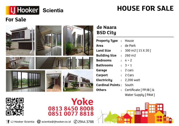 HOUSE FOR SALE: de Naara @ de Park, BSD City