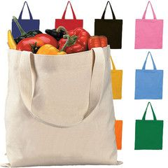 Cotton bags- instead of the plastic ones. Groceries, fruit and veggies. Tons of different size bags.