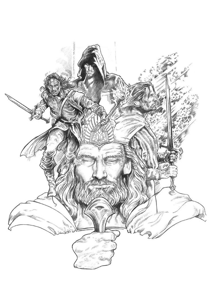 aragorn coloring pages | Lord of the Rings: Aragorn by NACHOCASTRO | kleurplaten ...