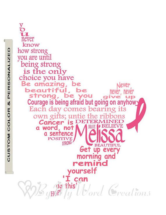 Personalized Cancer Fighter Dove Art Cancer by ByMyWordCreations