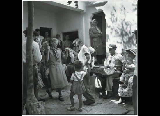 Mykonos 1955. At a baptismal festival. Photo Robert McCabe