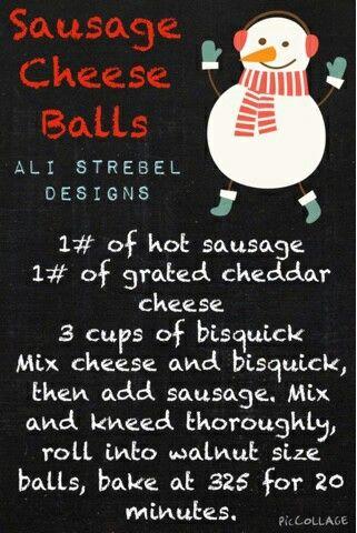Christmas Kitchen🎄 Sausage Cheese Balls