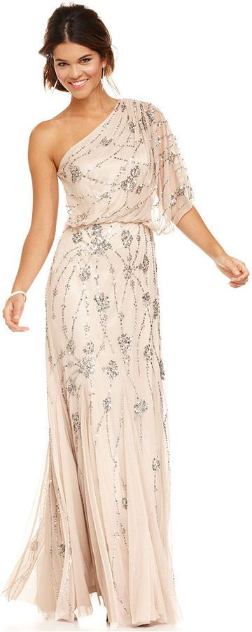 Art Deco Wedding Gown: Blush- the blush version the other pictures are the champagne version I like both