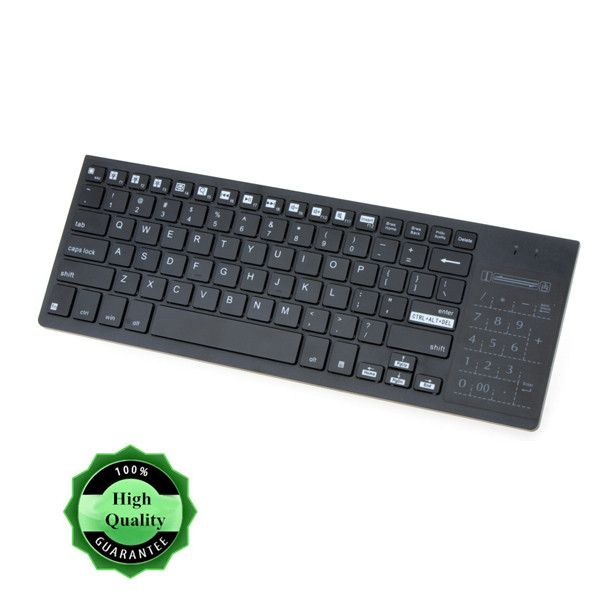 2.4G Ultra-Slim Wireless Keyboard with Touchpad Multi-color Backlit Backlight