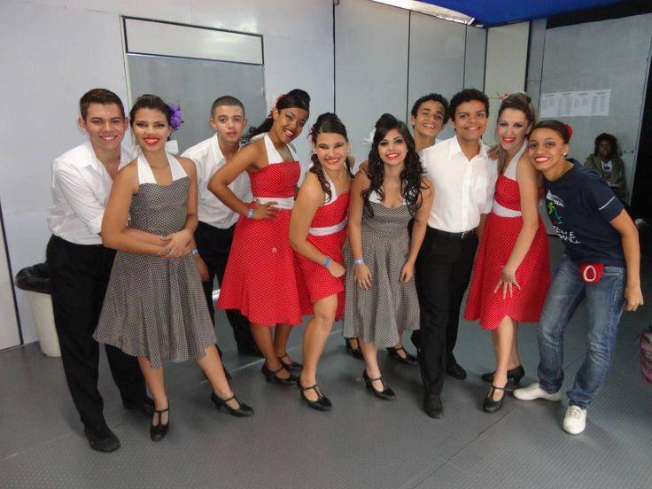 Bastidores de Rock Dj Show, coreografia Noite de Havana.