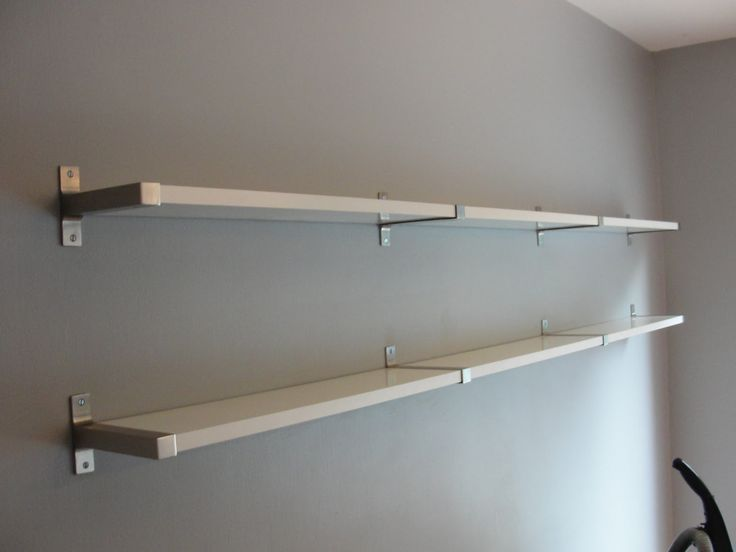 In Vogue Two Levels White Kitchen Shelves With Simple