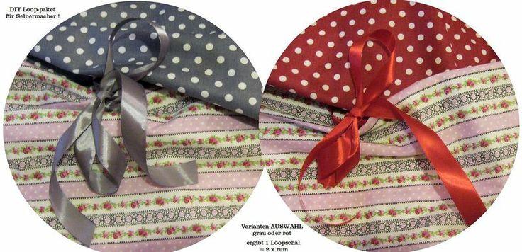 Stoffpaket♥ DIY Loop♥ Blumenstreifen/dots Auswahl  von ஐღKreawusel-aufgehübschtஐღ  auf DaWanda.com