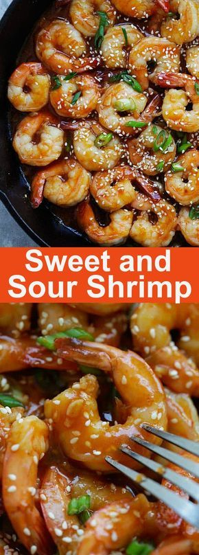 Sweet and Sour Shrimp with plump and juicy shrimp in mouthwatering sweet and sour sauce, ready in 20 minutes   rasamalaysia.com