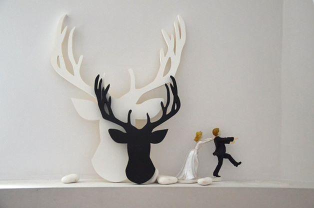 Jeleń Łoś Renifer Deer BIG - Manufaktura-Slow - Ozdoby na ścianę