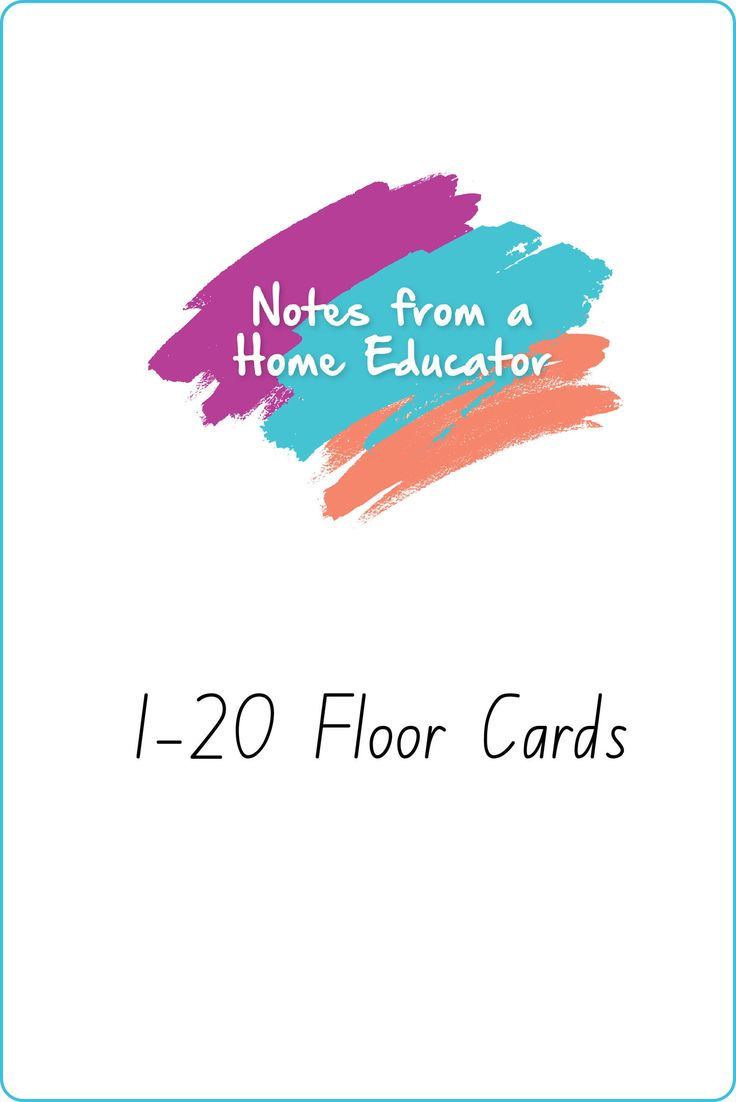 1-20 Floor Cards Printable – Notes From a Home Educator
