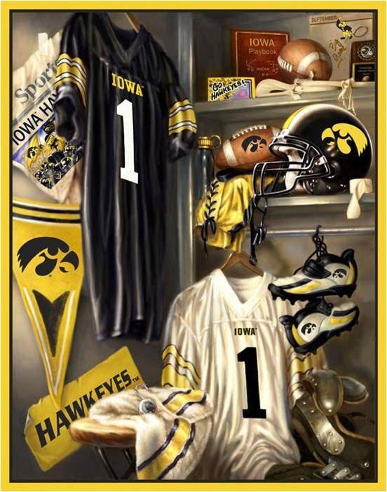 University of Iowa Hawkeye Football Locker Room Fleece Blanket