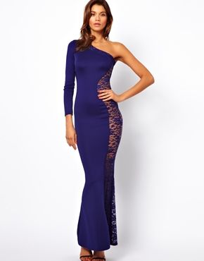 TFNC Maxi Dress With Lace Side