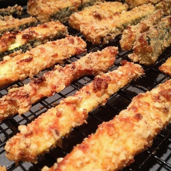 Why zucchini bread is an abomination (and how to make baked zucchini fries instead)... I used Red Mill all purpose flour and used almond milk instead of buttermilk: they came out delicious!