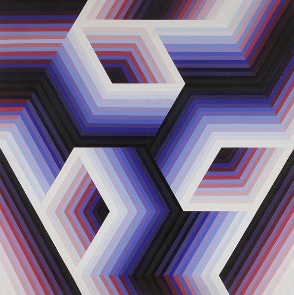 Jean pierre yvaral google keres s jean pierre yvaral for Geometric illusion art