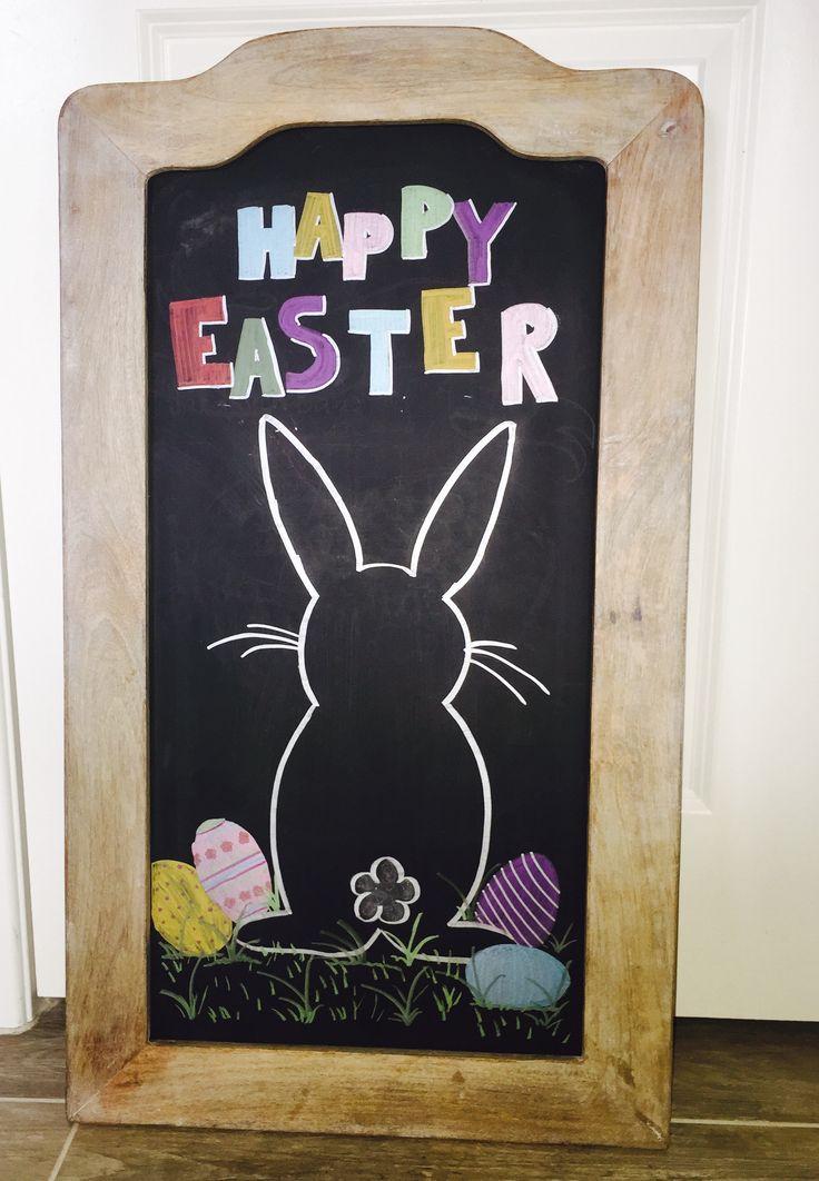 Easter chalkboard art