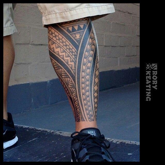 Tribal leg sleeve by Rory Keating - Guru Tattoo - San Diego, CA. #gurutattoo