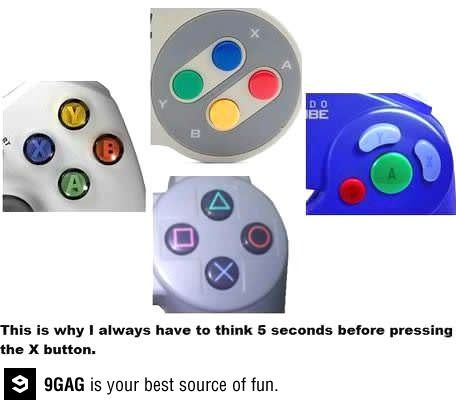 The challenge of every game controller, and I know every button by heart and controller by weight and size. Yep. :p