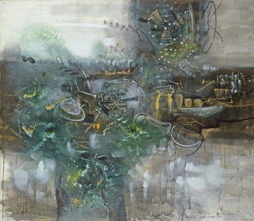 "oil on canvas, 79-7/8"" x 91-3/4"" (202.9 cm x 233 cm), 1967"