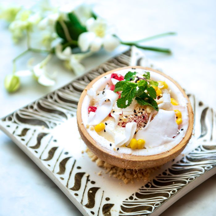 Another great dessert with some attractive tropical look, the Mat Phrao Ice Cream.