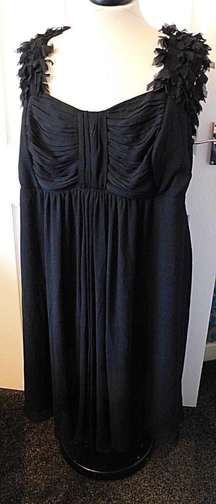 4e97d956323 SIMPLY BE Black Scoop Neck Sleeveless Christmas Party Dress Plus Size UK 30  58  fashion