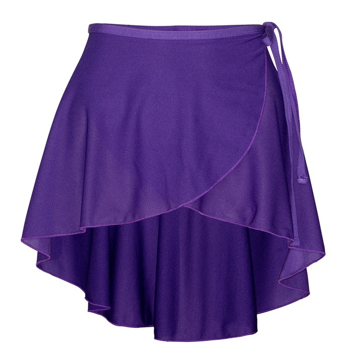 Starlite Phillipa ISTD Polycrepe Wrap Skirt. Part of Starlite ISTD Exam Wear for the Imperial Society of Teachers of Dancing Syllabus. Colour options - Plum, Purple, Navy, Sky Blue. Price from £10.25 at www.dancinginthestreet.com #dancinginthestreet #ballet