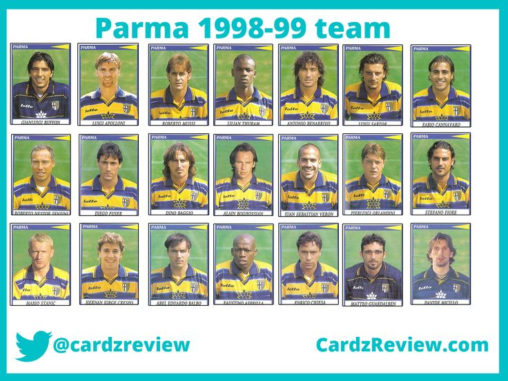 Parma football players 1998-99 calciatori album panini