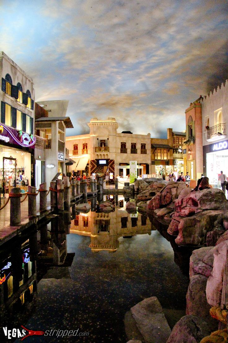 Inside Planet Hollywood's miracle mile mall. The ceiling is a sky that clouds up and makes lightening and thunder! It's awesome!
