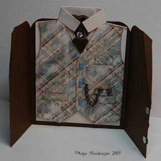 Mayas Hobbyblogg: Jacket-card with tutorial