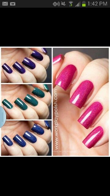 Deep: purple, green, blue and fuchsia