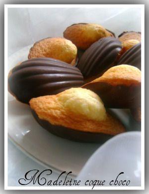 Madeleines coques au chocolat