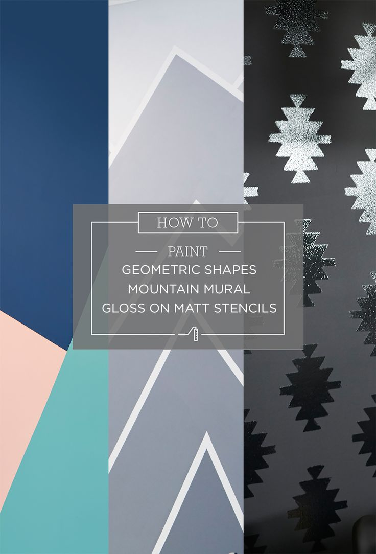 Taubmans Painted Shapes Series. Learn how to paint these patterns, with more colour options and patterns to choose from.