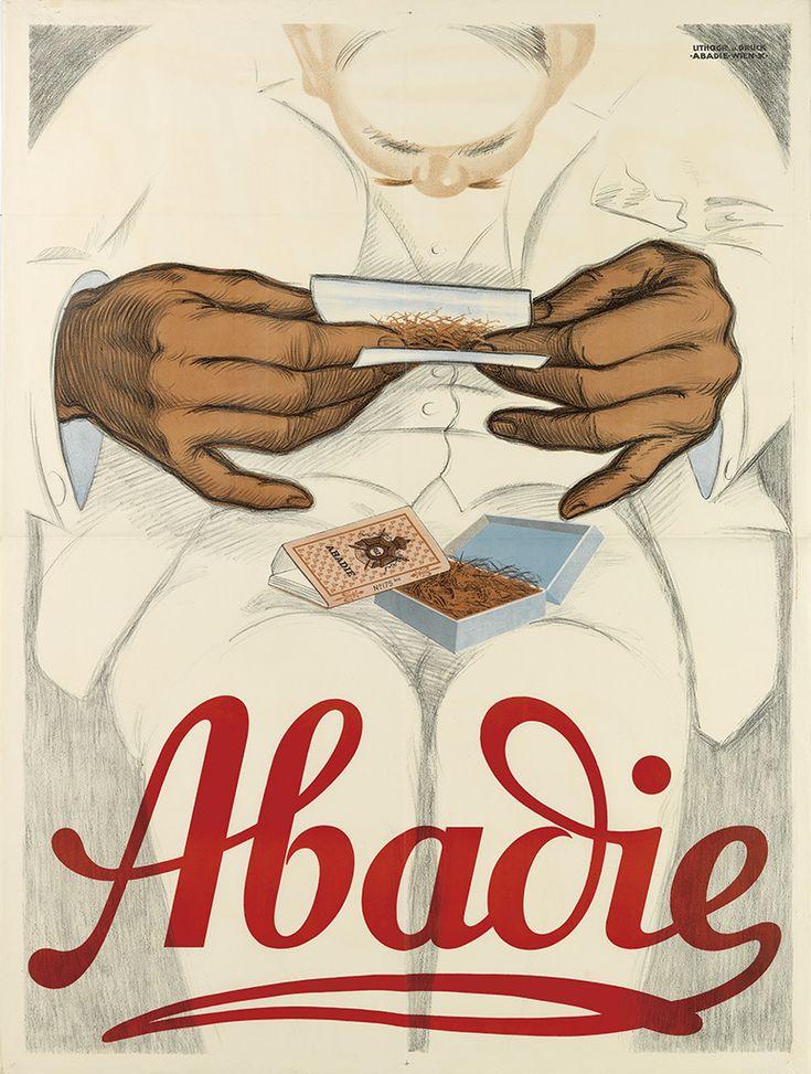 papier à cigarettes Abadie - 1924 - illustration de Mihaly Biro -