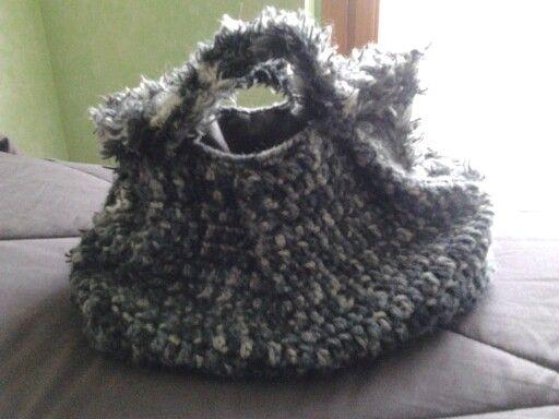 Borsa di lana uncinetto