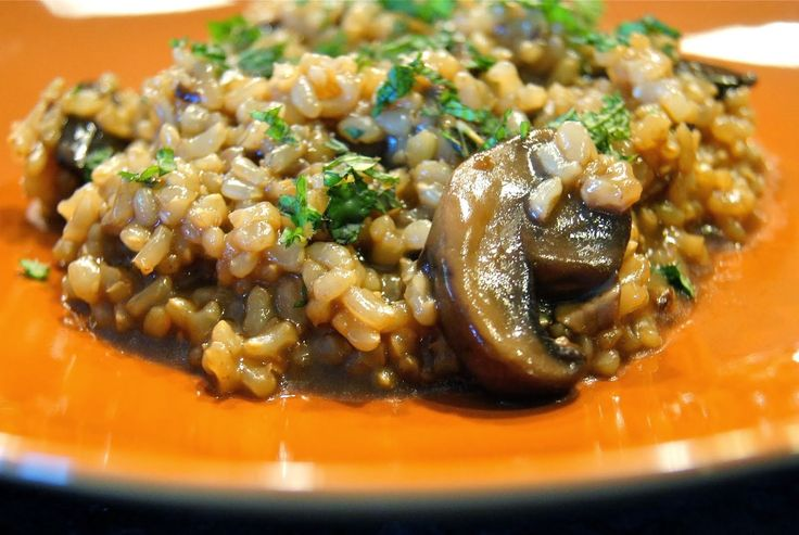 Amaranth Risotto with Mushrooms ~ Delicious recipes