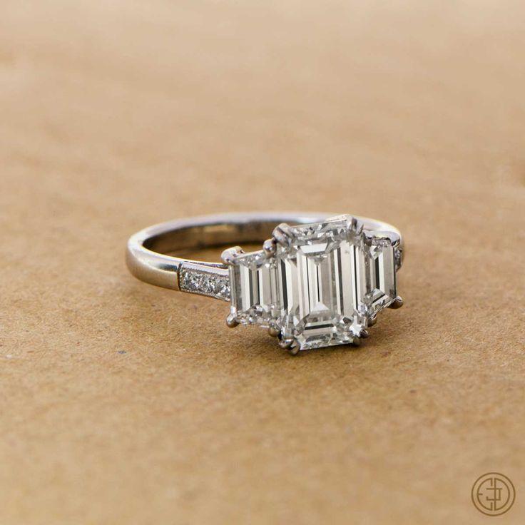 Vintage+Emerald+Cut+Diamond+Ring++by+EstateDiamondJewelry+on+Etsy,+$32,000.00