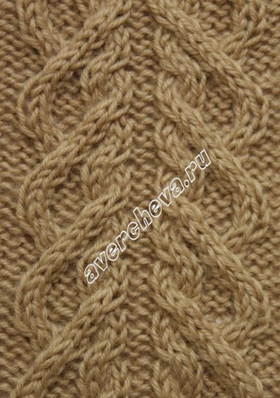 Side cable pattern 271 to complement Cable pattern: 52 stitches, 38 row repeat - узор спицами 673