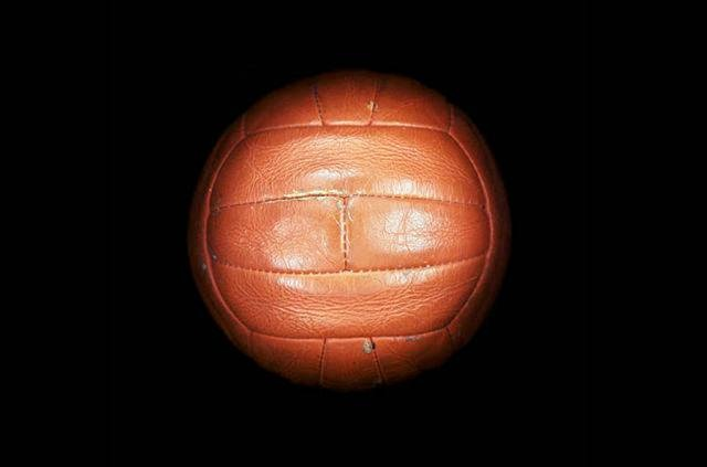 Balón de fútbol utilizado durante el mundial de fútbol Inglaterra 1966