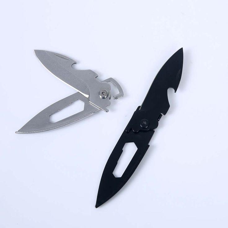 포켓 나이프 키 스테인레스 스틸 미니 멀티 기능 접이식 칼 지갑 칼 생존 캠핑 손 도구 전술 나이프