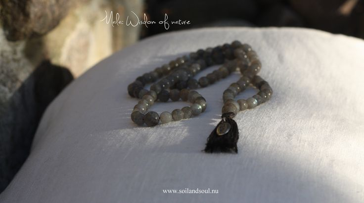 Mala <3 Wisdom of nature <3 Beautiful magic labradorit beads,,  Present for a goddess <3 www.soilandsoul.nu