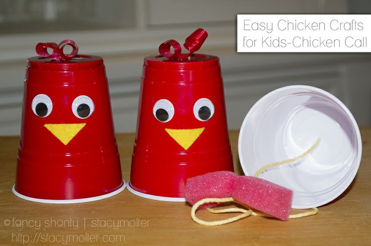 Easy Chicken Crafts for Kids! It even makes noise! (Bwwwooooook, bwok, bwok, bwok, bwok, bwok, bwok, bwok.) - Fancy Shanty | Stacy Molter