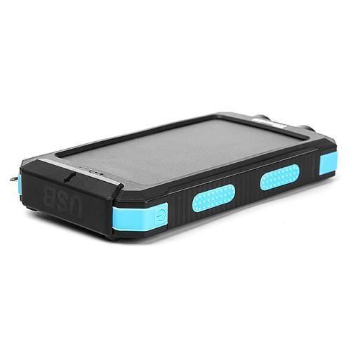 Tollcuudda 10000mAh Solar Power Bank Waterproof Dual USB Charger Battery PowerBank with LED light Compass Tool