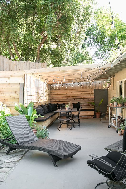 my patio: before + after.