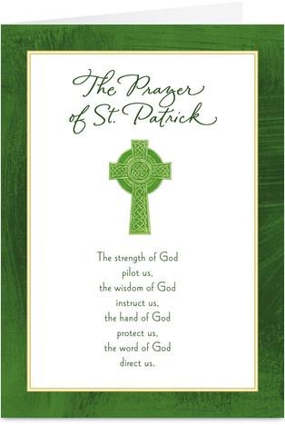 Prayer of St. Patrick St Patrick's Day Card